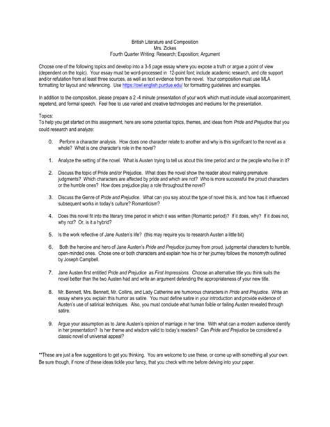 research paper on austen research paper topics pride and prejudice