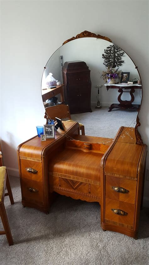 antique vanity table craigslist wondering the age and worth of waterfall vanity my