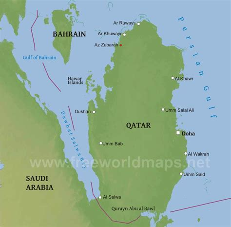 physical map of qatar qatar physical map