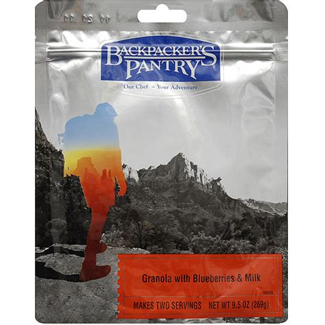 backpacker s pantry blueberry granola and milk walmart