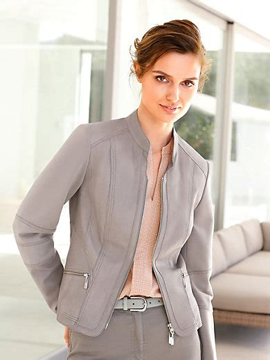 Betty Barclay by Betty Barclay Leather Jacket Putty