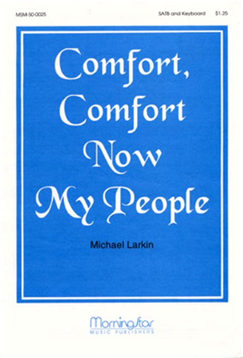 Comfort Comfort Now My People Sheet Music By Micheal