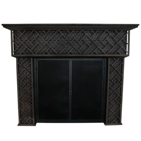 Iron Fireplace Mantel by Wrought Iron Fireplace Mantel