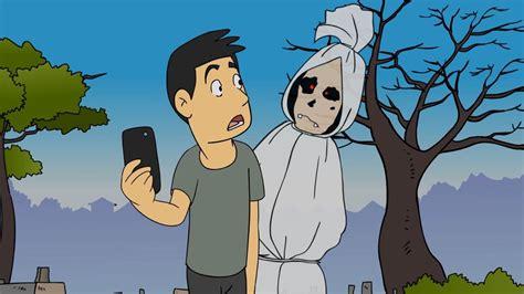 kartun lucu pocong gaptek funny cartoon youtube