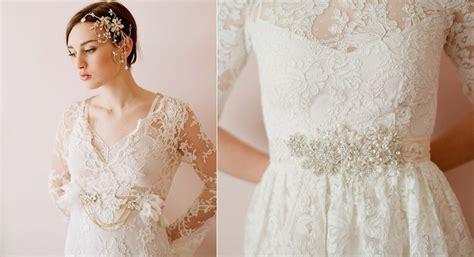 lace wedding dress embellished bridal sash