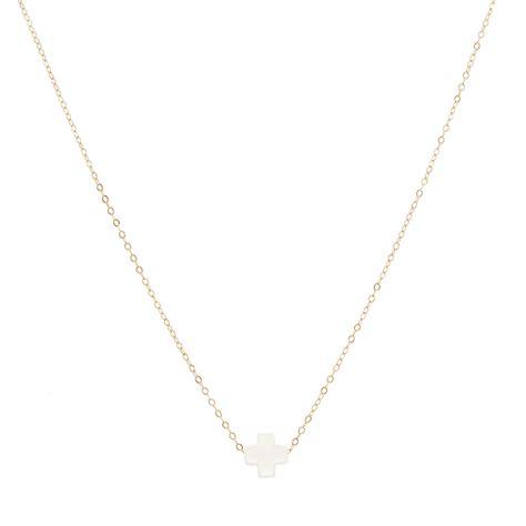 Luminox Chain Black White cross tween necklace white