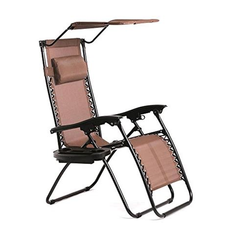 Chair With Canopy And Cup Holder by Best New Zero Gravity Chair Lounge Patio Chairs Outdoor