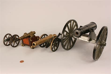 miniature cannons lot 520 four miniature firing cannons
