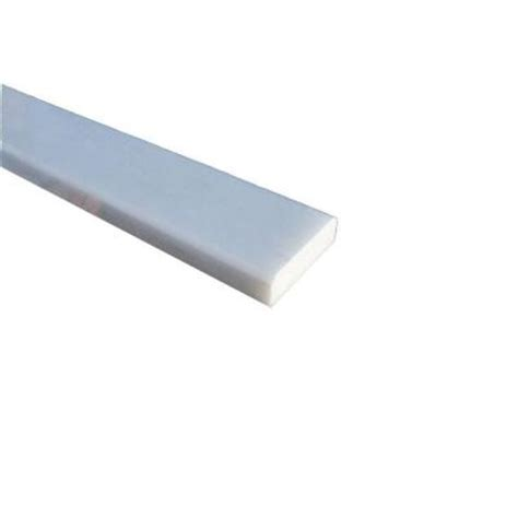 ms international white double bevelled threshold 2 in x