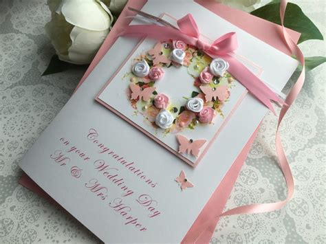 And Handmade - luxury handmade wedding card quot floral wreath