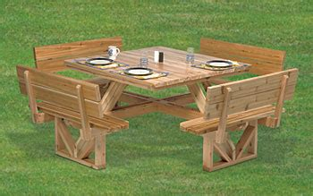 plan square picnic table  tabletop