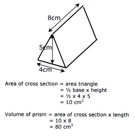 How To Calculate Cross Sectional Area Of A Rectangle by Year 8 Volume
