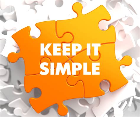 Keeping It Simple by Simple And True Michealspencer