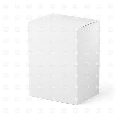 blank packaging templates blank white box for packaging design vector clipart image 20504 rfclipart