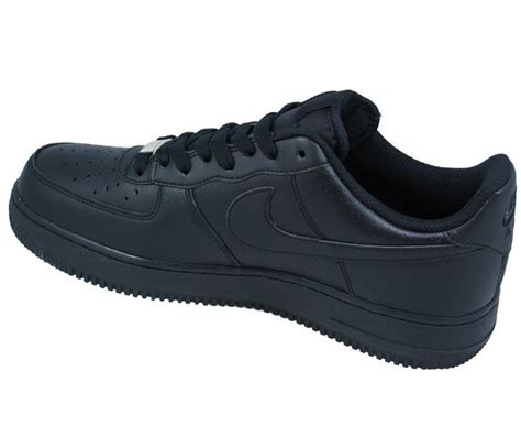nike shoes mens air 1 black low perforated