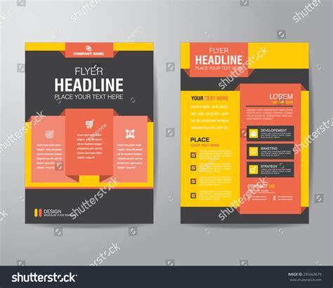 a4 brochure layout design corporate brochure flyer design layout template stock