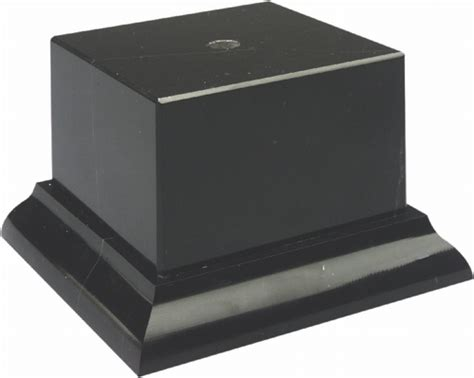 genuine marble pedestal trophy base 3 1 4 quot w genuine black