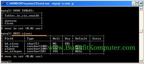 struktur membuat tabel html perintah sql untuk membuat tabel dalam database mysql