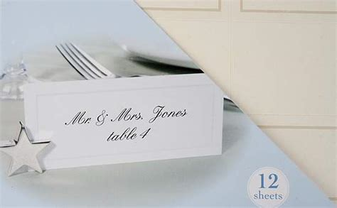 printing your own wedding place cards 72 print your own ivory placecards placecards place card holders wedding reception