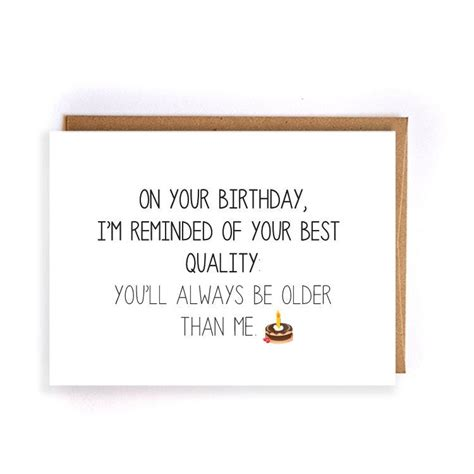 Note To Self Sarcastic Humor Greeting Card Sarcastic Birthday Card For Boyfriend Handmade Greeting