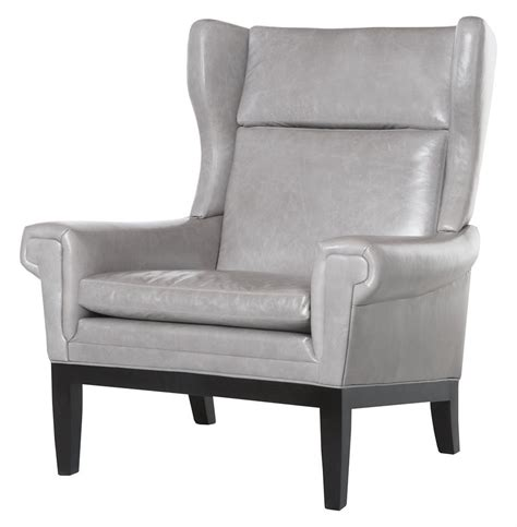 grey accent chair lyto mid century wing back masculine grey leather accent