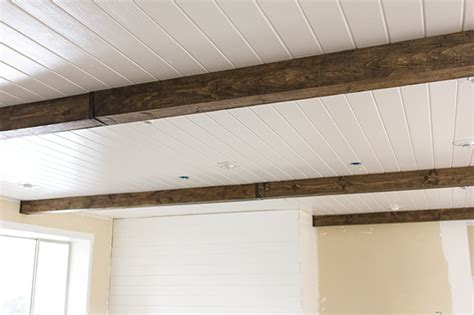 Diy Faux Ceiling Beams by Master Makeover Diy Wood Beams Sue Design