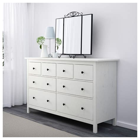 ikea white and wood dresser hemnes chest of 8 drawers white stain 160x96 cm ikea