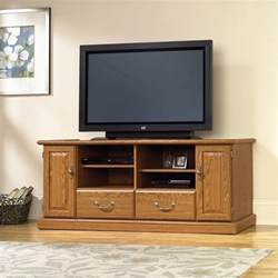 sauder carolina oak finish wood tv stand ebay - Wooden Tv Stands