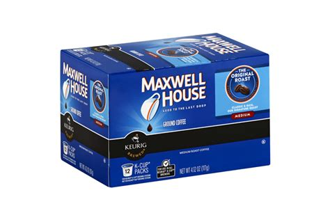 k cup carbohydrates maxwell house the original roast coffee k cup r packs 12