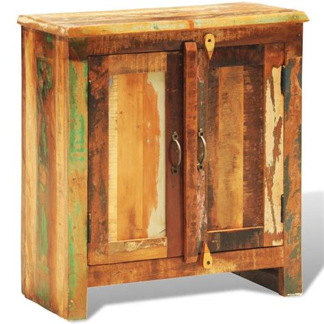 Reclaimed Wood Cabinet Doors Reclaimed Wood Cabinet With Two Doors Vintage Antique Style Vidaxl