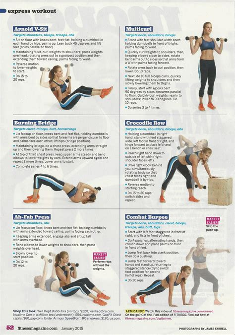 arms abs workout from noah neiman of barry s bootc in fitnessmagazine health fitness