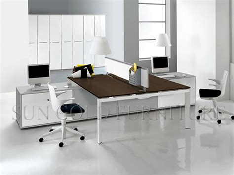 Modern Design Office Layout Cubicle Workstation For 2 Modern Work Desks