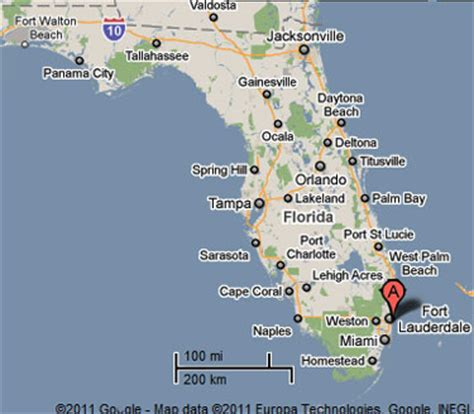 fort lauderdale map florida sighting reports 2011