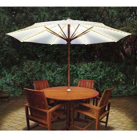 Patio Umbrella Lighting Blue Brella Lights Patio Umbrella Lighting System With Power Pod 6 Rib Bl076 The