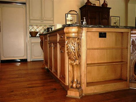 Kitchen Island With Corbels | island height corbels stunning addition to open kitchen