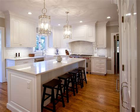 custom white kitchen cabinets kitchen remodel transitional project 15 walker woodworking