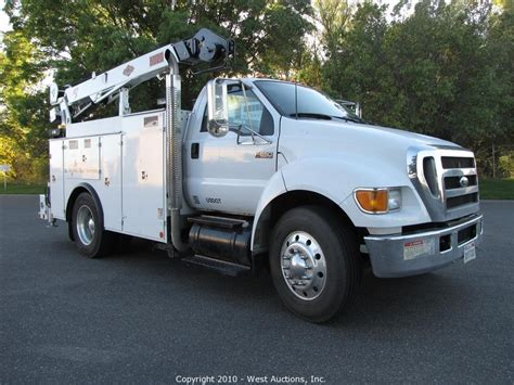 ford service truck west auctions auction 2005 ford f650 service truck item