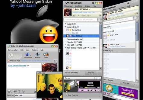 download themes yahoo theme styles free itunes 8 skin for yahoo messenger 9