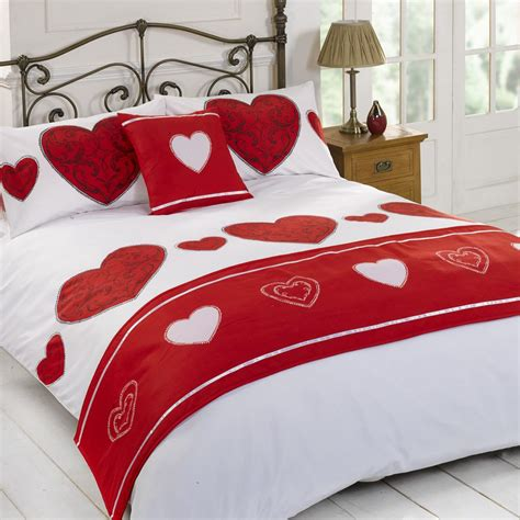love mattress duvet quilt bedding bed in a bag red single double king