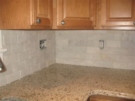subway tile backsplash ideas stacked stone backsplash with white cabinets stacked tile