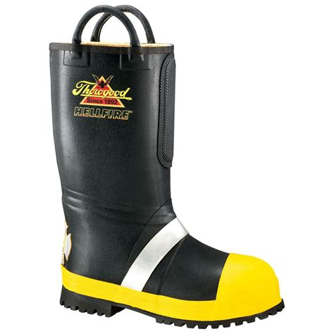 s thorogood 174 14 quot rubber insulated firefighting boots