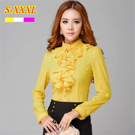 buy turn collar sleeve polka dot blouse