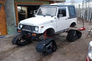 Suzuki Samurai With Tracks 1990 Suzuki Sidekick With Camoplast Utv Snow Tracks Build