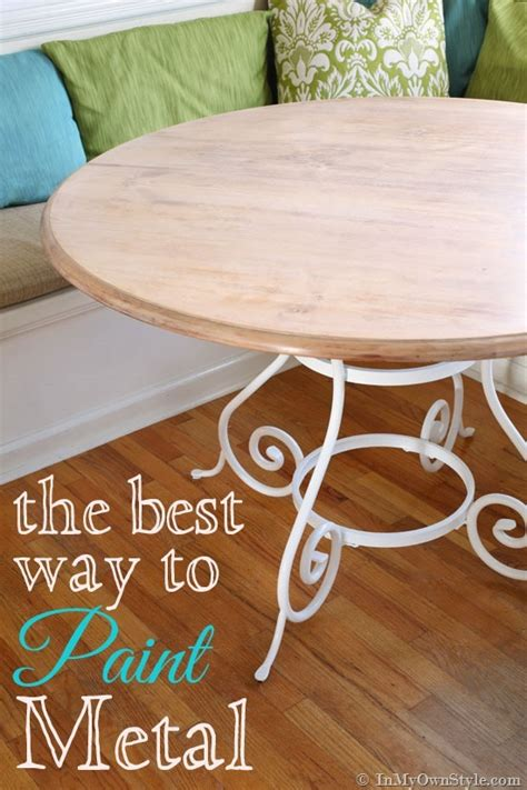 diy chalk paint on metal kitchen update painting metal furniture in my own style