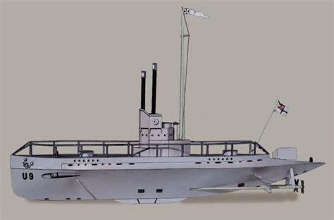 Submarine Papercraft - papermau german submarine u9 a vintage paper model by