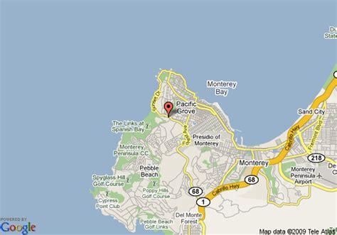 pebble california map map of pebble the inn at bay pacific grove