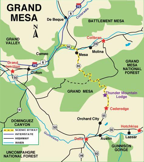 grand in colorado map grand mesa scenic byway grand mesa colorado vacation