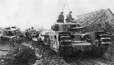 Churchill Tank Interior by Churchill Tanks Of 6th Guards Tank Brigade And Infantry Of
