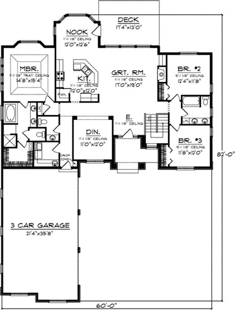 split two bedroom layout split bedroom layout 89799ah architectural designs