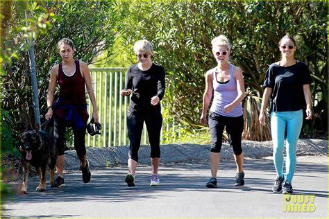 julianne hough nikki reed get ready to run after major julianne hough nikki reed go hiking with cara santana